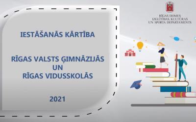 Vienotie iestājpārbaudījumi Rīgas valsts ģimnāzijās un daļā Rīgas vidusskolu